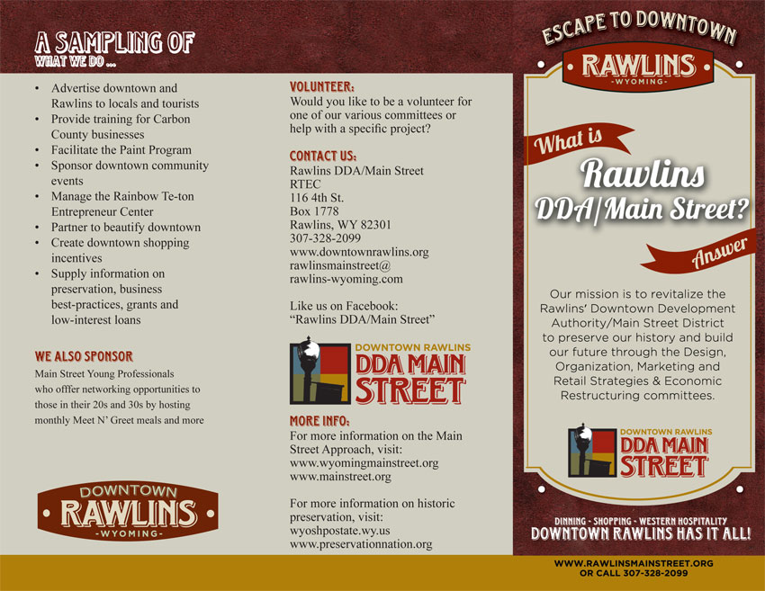 rawlins dda downtown brochure wyoming